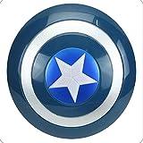 SMAQZ Máscara Decorativa de Halloween-Escudo del Capitán América para niños, Sonido de Juguete y Espada Ligera, Arma de Capa de Martillo Quake.Sonido Azul y Escudo de luz