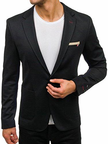 BOLF Herren Sakko Slim Fit Blazer Party Classic Casual BOLF 089 Schwarz L/52 [4D4]