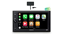 Sony XAV-AX1005KIT DAB+ Media Receiver, Touchscreen 6,2 Zoll, mit Bluetooth und Apple CarPlay und DAB+ Antenne inklusive