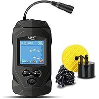 LUCKY Portátil Sonar Buscador de Pesca con Cable Profundidad Buscador de Pescado Sonar Sensor Buscador de Peces LCD Pantalla para la Pesca