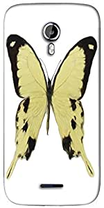 Snoogg digital painting of a butterfly Designer Protective Back Case Cover For Micromax A117