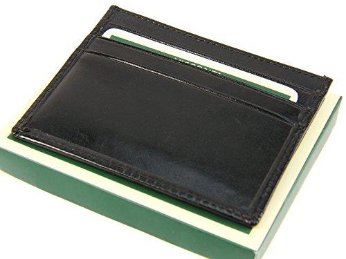 Visconti lohgegerbtem italienischem Leder Geldbörse Tasche für Kreditkarten, Notizen, MZ1 Schwarz