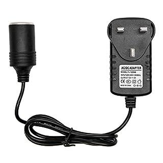 MASO Car Power Inverters 240V AC Mains to 12V DC Power Socket Adapter Converter 2A Car Cigarette Lighter Socket Power Adapter Charger UK Plug Household Cigarette Lighter