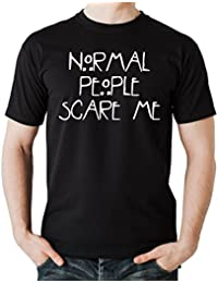 Normal People Scare Me T-Shirt Negro