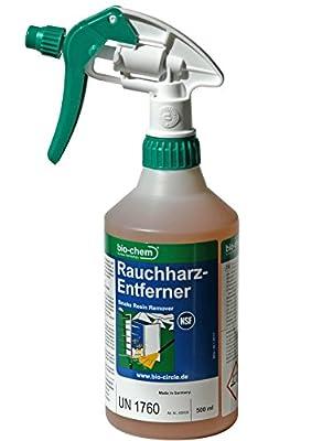 bio-chem Rauchharzentferner / Kraftreiniger für Grillrost, Räucherkammer, Smoker I 500 ml mit Spraykopf und Schaumdüse