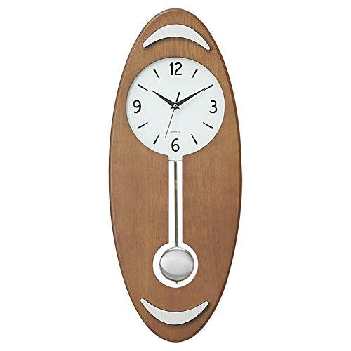Handgemachte Wanduhr - schlanke minimalistische kreative Wohnzimmer stumm Wanduhr Uhr Schlafzimmer Quarz Eiche 65 * 26 * 6cm