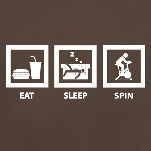 Eat Sleep Spin - Herren T-Shirt - 13 Farben Schokobraun