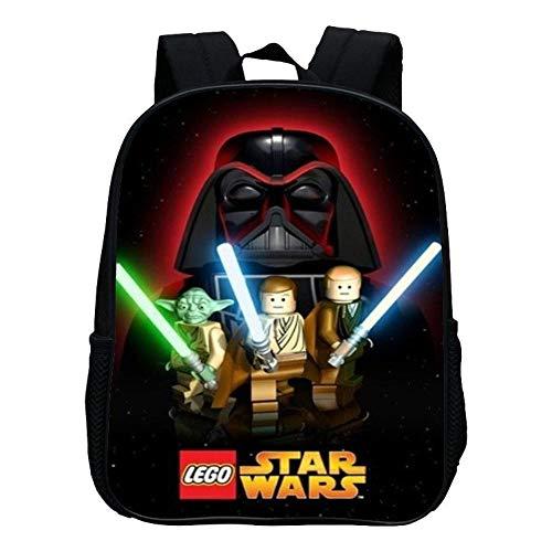 DWYRD Kinderrucksack Lego Star Wars 3D-Druck Grundschultaschen wasserdichte Büchertasche Geeignet Für Jungen Und Mädchen G (Lego Star Wars Cartoon)