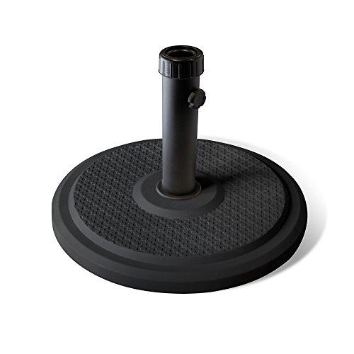 PARAMONDO Base paragüero estándar para Sombrilla / Parasol, rendonda (negro)