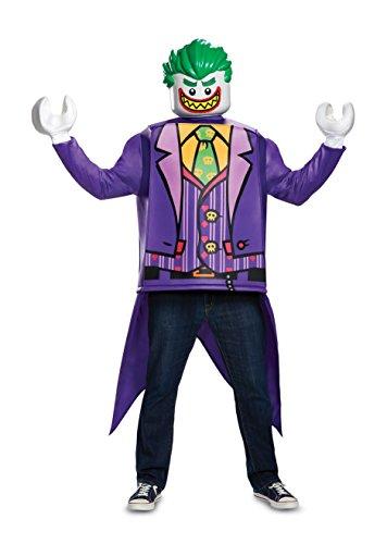 Jakks Pacific 14250-15L Joker Klassisches Erwachsenenkostüm, Mehrfarbig (Batman Lego Mann Kostüm)