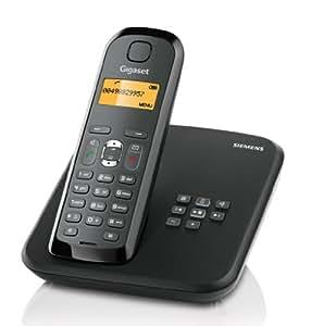 Gigaset AS285 Dect-Schnurlostelefon mit Anrufbeantworter,schwarz
