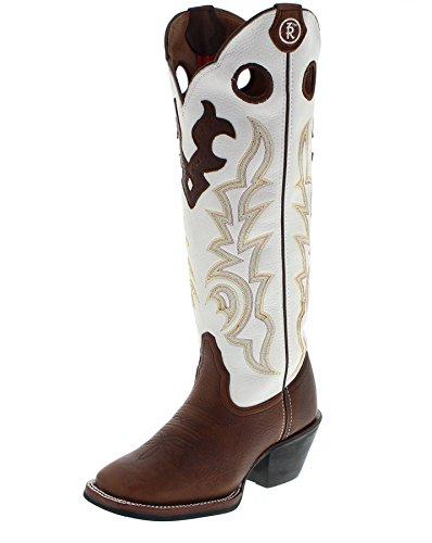 Tony Lama RR2007L B Beige/ Damen Westernreitstiefel Braun/ Damenstiefel/ Reitstiefel/ Western Riding Boots, Groesse:37 (7 US) (Frauen Für Boots Lama Tony)