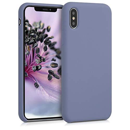 kwmobile Apple iPhone X Hülle - Handyhülle für Apple iPhone X - Handy Case in Lavendelgrau