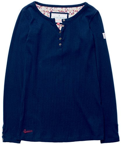 Brakeburn Top à Manches Longues - Femme Bleu Marine