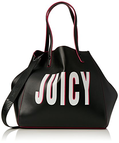 Juicy by Juicy Couture Damen Arlington Tote, Schwarz (Black Juicy Print), 22 x 33 x 34 cm (Fashion Black Bag Tote)