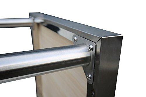 Edelstahl Arbeitstisch Gastro Tisch Edelstahltisch Küchentisch Anrichte 120x60x86cm mit Aufkantung
