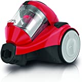 Dirt Devil DD2324-4 Func4.1 Singlecyclone Staubsauger EEK B (800 W Hocheffizienzmotor, 1,5 L, HEPA Media Ausblasfilter, ohne Beutel) rot