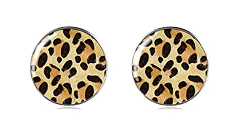 Tizi Jewellery 925 Sterling Silver Tiger Leopard Print Earring Studs