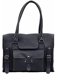 LE RIVE GAUCHE M Bleu Encre sac bandoulière cuir style vintage PAUL MARIUS