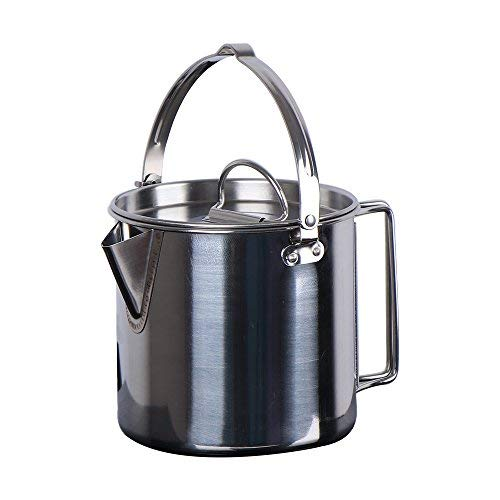 Chihee Edelstahl Outdoor Kochen Wasserkocher 1.2L Leichter & Kompakter Camping-Topf für Camping Wandern Backpacking Picknick (Verwendet Gas-wasser-heizung)