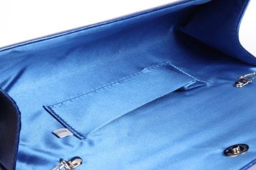 Grandi cerchi luccicanti danno Damara letec lederpflege la sera borsa donna pochette in strass, Marrone (marrone), L Marrone (marrone)