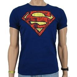 Logoshirt - logo de Superman vintage T-Shirt slim Fit, Royal - Blue Azul azul Talla:extra-large