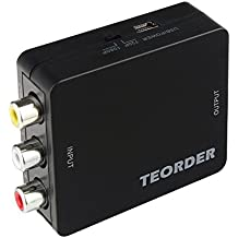 teorder RCA/AV/CVBS composito al convertitore HDMI Full HD 720P/1080P con cavo di ricarica USB supporto PAL/NTSC per PS3/STB/Xbox/VHS/VCR/Blue-ray lettori DVD/TV/PC
