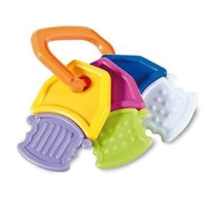 Mebby Rattle Teething Rings Key Shaped (Multi Coloured, Pack of 1)
