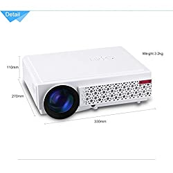 Toshani TS08 projector 2500 lumens led Portable projector with HDMI / AV / VGA / USB / TV Best for Home entertainment/Office/School/Movies