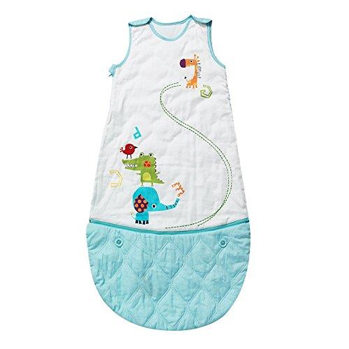 I-baby sacco nanna neonato sacco a pelo bambino sacchi letto bimbo sacchiletto sonno cotone quattro stagioni senza maniche per bambina piccolo 0 6 12 18 24 36 mesi