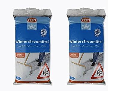 2 x 10 Liter Winterstreumittel Winterstreu Streugut Streugranulat Streumittel