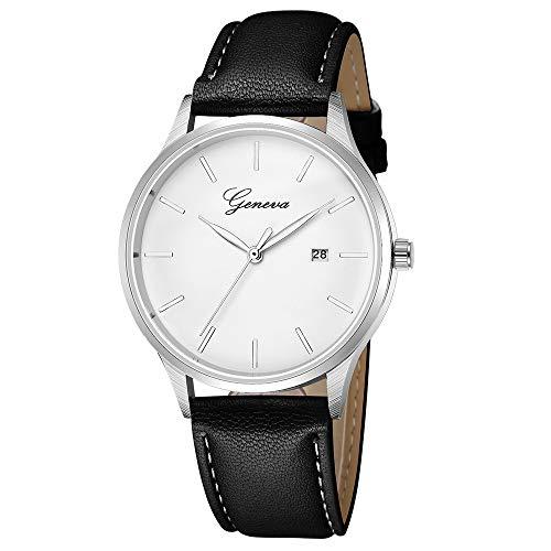 VECOLE Armbanduhr Frauen Fashion Simple mit Kalender Uhren Geschenk für Frauen Quarz Analoganzeige(Schwarz-1) - Diamanten Uhren Damen Ebel