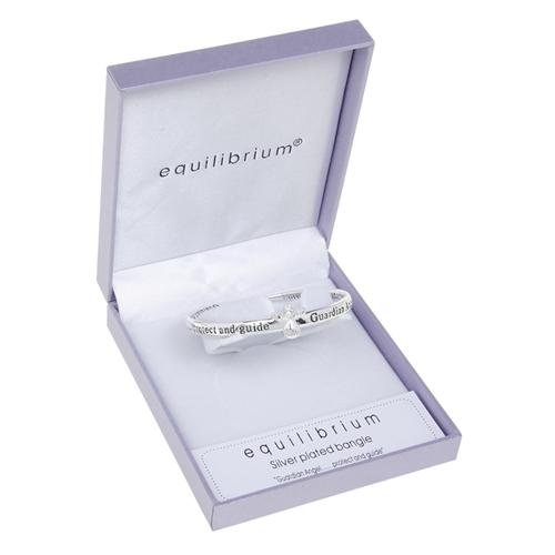 Equilibrium Jewellery - SILVER PLATED BANGLE BRACELET - Guardian Angel Protect 7101