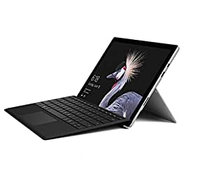 Microsoft Surface Pro 12.3-Inch PixelSense Tablet PC (Silver) with Black Type Cover - (Intel 7th Gen Core m3-7Y30 2.6GHz, 4GB RAM, 128GB SSD, Intel HD Graphics 615, 2017 Model, Windows 10 Pro)