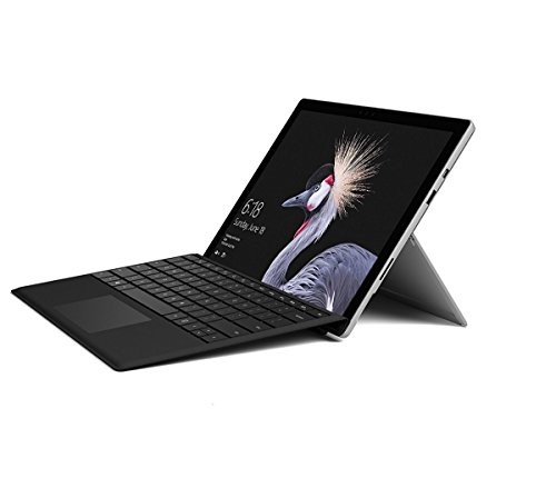 Price comparison product image Microsoft Surface Pro 12.3-Inch PixelSense Tablet PC (Silver) with Black Type Cover - (Intel 7th Gen Core m3-7Y30 2.6 GHz, 4 GB RAM, 128 GB SSD, Intel HD Graphics 615, 2017 Model, Windows 10 Pro)