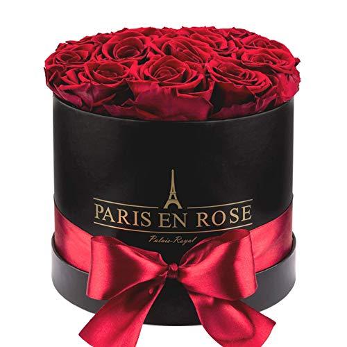 PARIS EN ROSE Palais-Royal Rosenbox schwarz-Bordeauxrot S