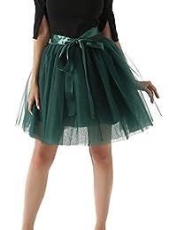 Facent Damen Mädchen 7 Schichten Knielang Tüllrock Tutu Tüll Kleid Rock  Reifrock Abendrock 4abacc1127