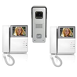 Amocam Wired Telephone style Video Door Phone Intercom Doorbell Kit IR Night Vision Aluminum alloy Camera Rainproof Rustproof Door Bell Intercom Doorphone 4.3