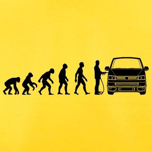Evolution of Man VW T5 - Herren T-Shirt - 13 Farben Gelb