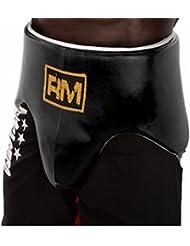 Ringmaster Reino Unido Abdo Protector Ingle Copa Guardia Boxeo Piel), color negro, mujer hombre, color negro, tamaño Grande - Extragrande