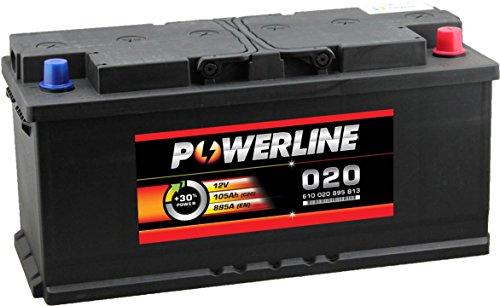 020 Powerline Auto Batteria 12V 110Ah