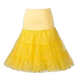 50's Petticoat Underskirt Retro Vintage Swing 1950's Rockabilly White, Black 14 Colours