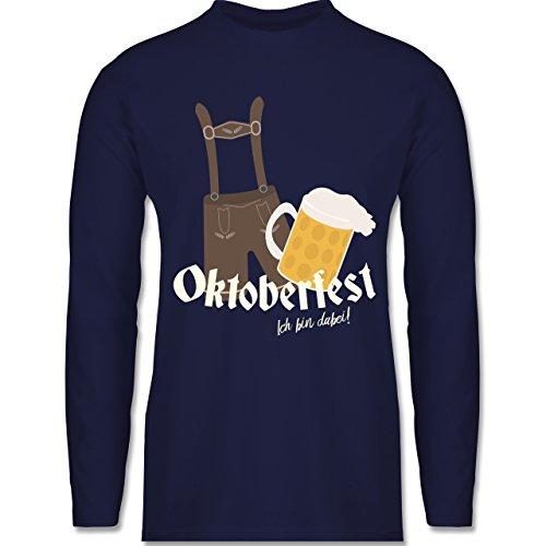 Oktoberfest Herren - Oktoberfest - Ich bin dabei! - XL - Navy Blau - BCTU005 - Longsleeve / langärmeliges T-Shirt für Herren