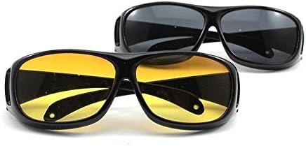 Velkro Velveeta Day & Night Hd Vision Goggles Anti-Glare Polarized Uv Protected Rectangular Unisex Sunglasses(2In1)