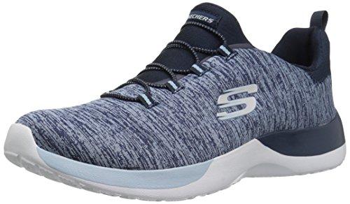 Skechers 12991/NVLB Dynamight-Break-Through Damen Sneaker Slipper blau, Größe:40, Farbe:Blau