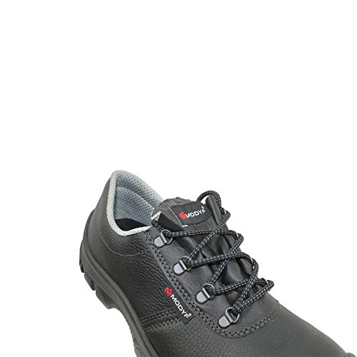 Modyf bauhalbschuh pro uK chaussures de sécurité norme s3 sRC chaussures berufsschuhe businessschuhe plat noir Noir - Noir