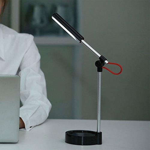 WYQLZ Nachtlicht, Bedroom Bedside USB Lade Augenschutz Falten LED Lernen Licht Büro Student Dormitory Schreibtisch Nachtlicht ( Farbe : Schwarz )