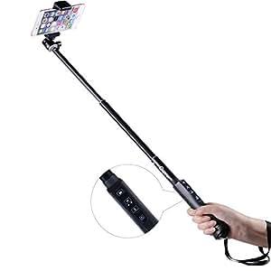 Allungabile Selfie Stick - Cootree® KS-01 Bluetooth Selfie Pole / Auto Ripresa Monopiede con otturatore a distanza Bluetooth per iPhone 6 6plus 5S 5C 5 4S, Samsung, Apple, ecc IOS / La maggior parte di android smartphone (Nero)