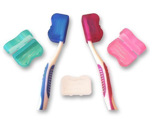 Zahnbürste Abdeckung für Kopf (5 stück Set Farben) ~ Elektrisch & Manueller...