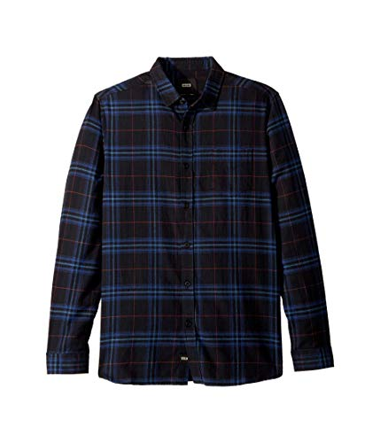 Globe Herren Hemd Dock Woven Button Up Long Sleeve - Blau - Groß - Woven Long Sleeve Button